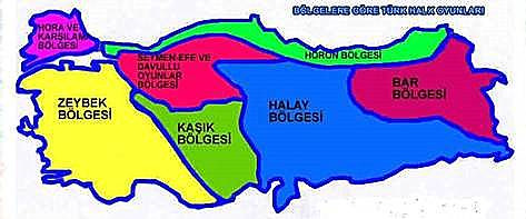 Turkish  folkdance map